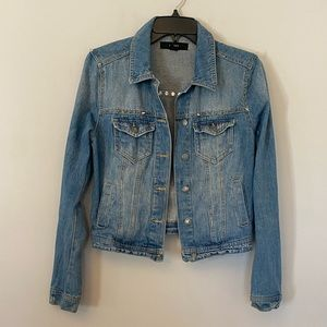 Forever 21 silver studded denim jean jacket S